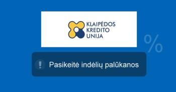 Klaipėdos kredito unija indėliai mini
