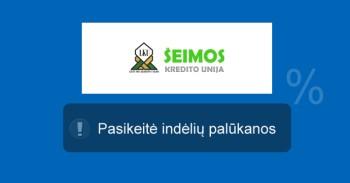 Šeimos kredito unijos indėlių palūkanos liepos 15 d. mini