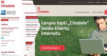Naujoji Citadele banko interneto svetainė mini