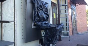 SEB bankomatas Karmėlavoje po vagystės mini
