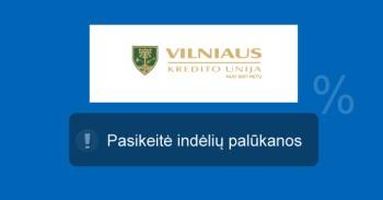 Vilniaus kredito unijos indėliai sumažėjo mini