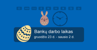 Bankų darbo laikas Velykos 2016 m. mini