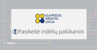 Klaipėdos unijos indėliai mini