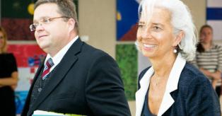 Christine Lagarde ir Vitas Vasiliauskas mini