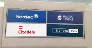Bendras bankų Citadele, Nordea, ŠB, Danske bankomatas mini