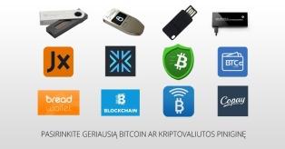 Bitcoin ir kriptovaliutų piniginės mini