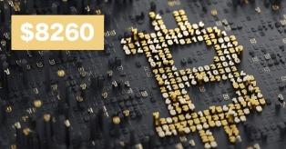 Bitcoin kaina pasiekė $8260