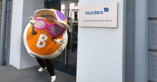 Bitcoin kriptovaliutos neturės Nordea darbuotojai mini